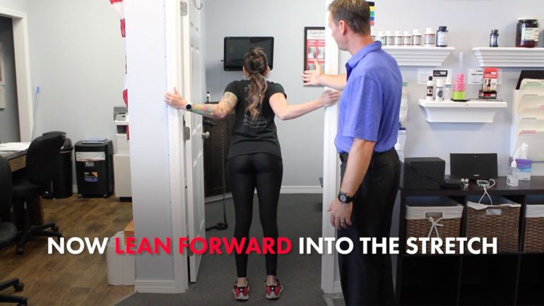 How To Do A Doorway Stretch At Your Home Or Office